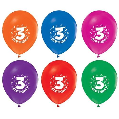 Pandoli 100 Adet 3 Yaş Happy Birthday Latex Renkli Balon