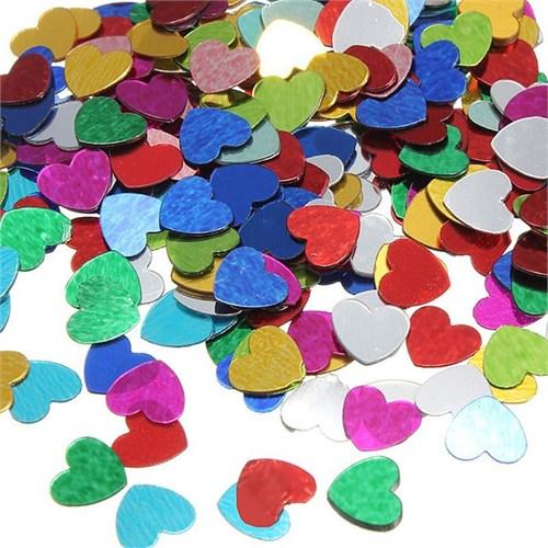 Pandoli Kalp Figürlü Karışık Renk Masa Üzeri Serpme Konfeti 15 Gr