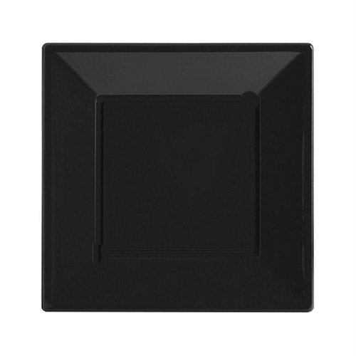 Pandoli Siyah Renk Küçük Boy 17 Cm Plastik Parti Tabağı 8 Adet
