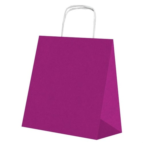Pandoli 25 Adet Mor Renk Kraft Kağıt Hediye Dağıtma Poşeti 22 Cm