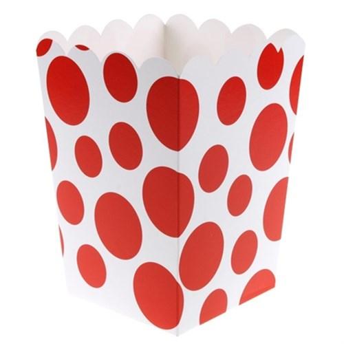 Pandoli 25 Adet Kırmızı Beyaz Puanlı Pop Corn Kutusu 13 Cm