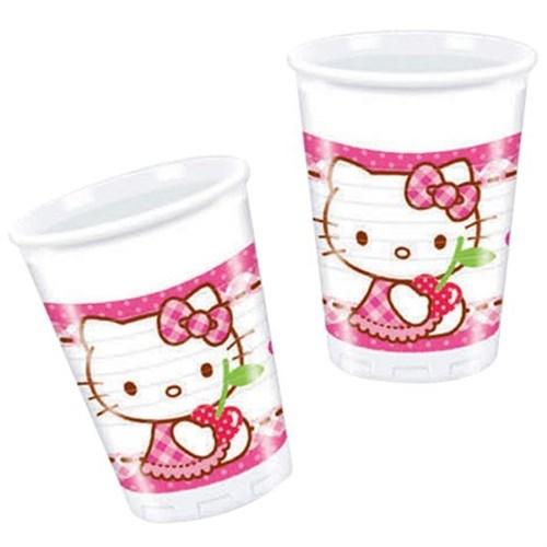Pandoli Hello Kitty Hearts Bardak 8 Li Plastik