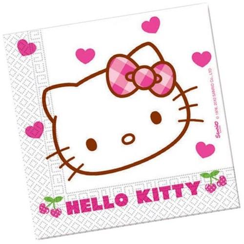 Pandoli Hello Kitty Hearts Peçete 20 Li