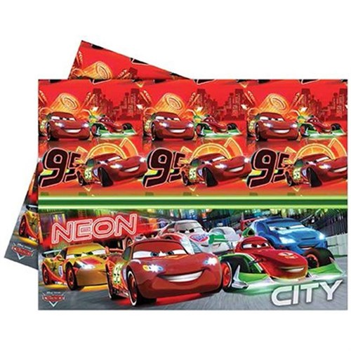 Pandoli Cars Neon Masa Örtüsü 120X180 Cm Plastik