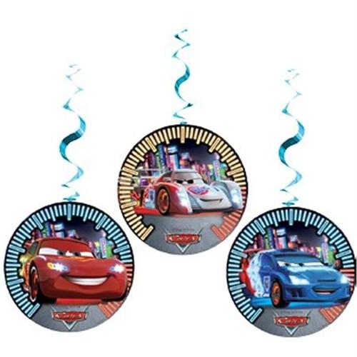 Pandoli Cars Neon Asmalı İp Süs 3 Lü