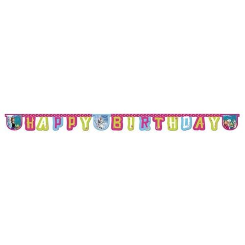 Pandoli Frozen Happy Birthday Banner