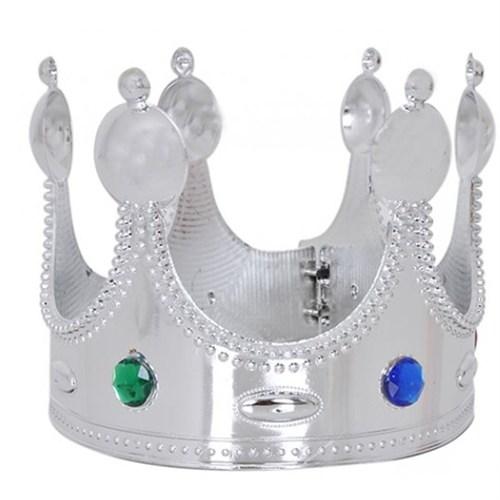 Pandoli Plastik Gümüş Renk Kral Tacı