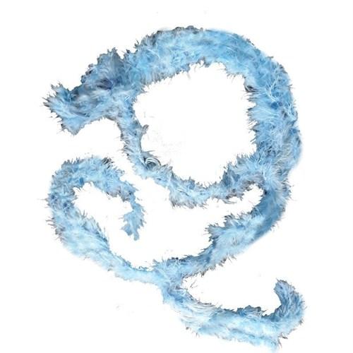 Pandoli 1,5 Metre Mavi Renk Tüylü İnce Otriş Boa 3 Cm