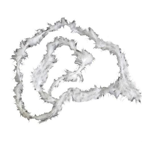 Pandoli 1,5 Metre Beyaz Renk Tüylü İnce Otriş Boa 3 Cm