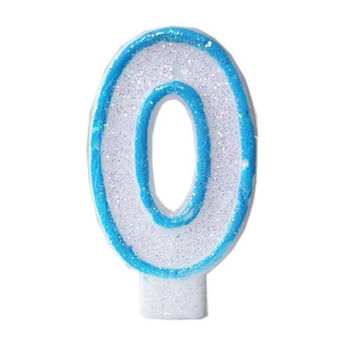 Pandoli Mavi Renk Rakam Mum 0