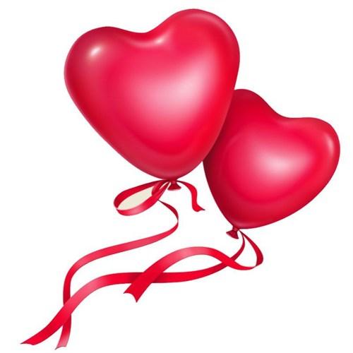 Pandoli 10 Lu Kırmızı Kalp Şekilli Balon
