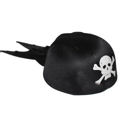 Pandoli Kurukafa Desenli Korsan Şapkası Siyah Renk