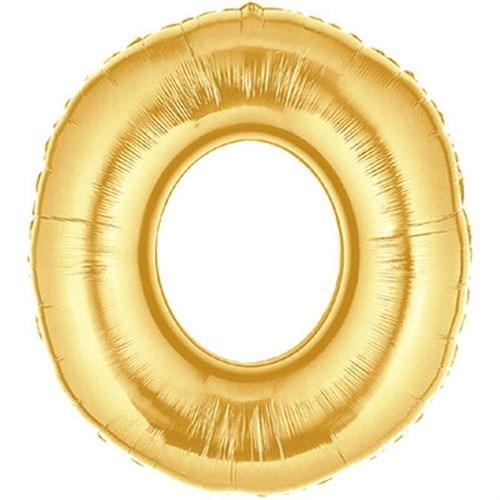 Pandoli 90 Cm Gold Renk Rakamlı Folyo Balon 0 Numara