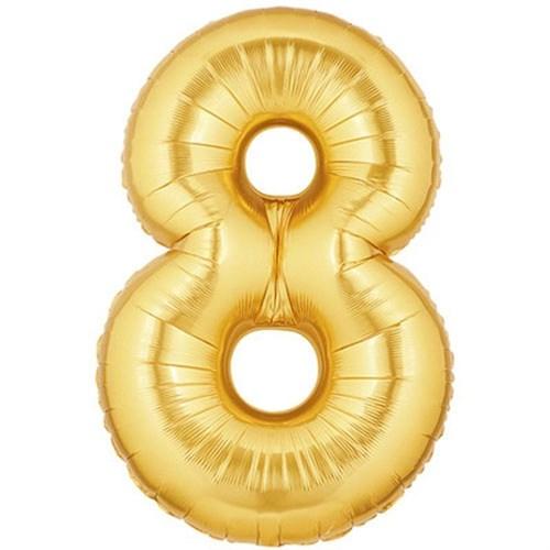 Pandoli 90 Cm Gold Renk Rakamlı Folyo Balon 8 Numara
