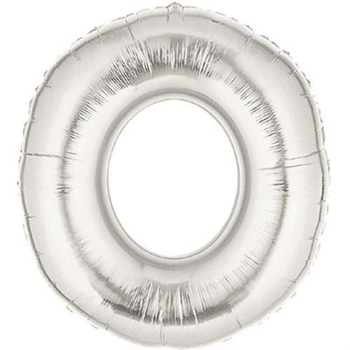 Pandoli 90 Cm Silver Renk Rakamlı Folyo Balon 0 Numara