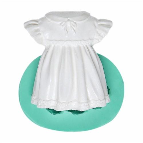 Kurdelya Şirin Kız Çocuk Elbisesi Silikon Kalıbı
