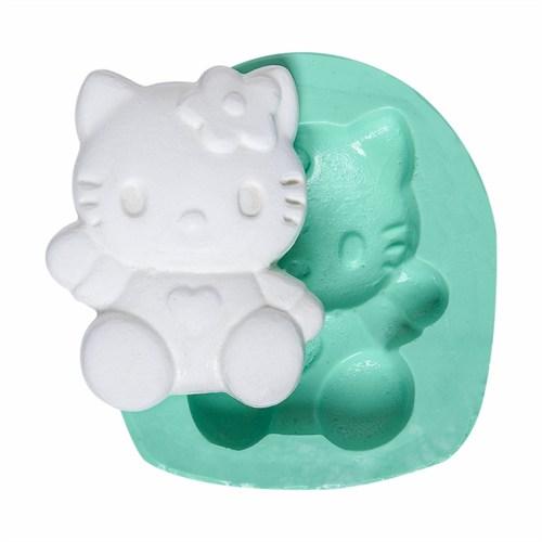 Kurdelya Oturan Hello Kitty Silikon Kalıbı