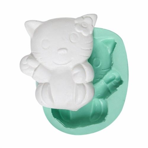 Kurdelya Sevimli Hello Kitty Silikon Kalıbı