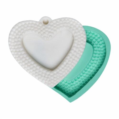 Kurdelya Noktalı Kalp Silikon Kalıp