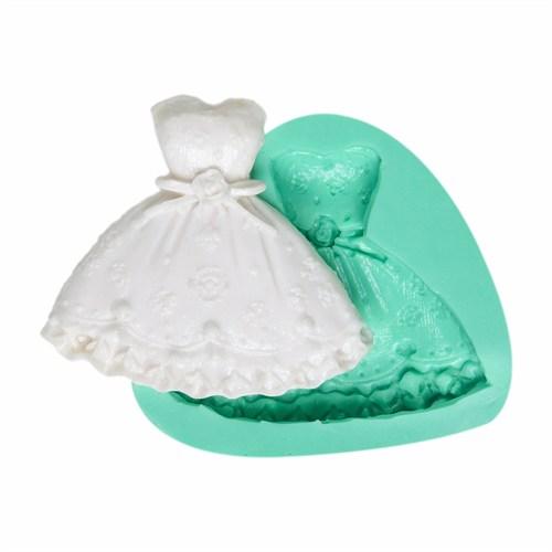 Kurdelya Prenses Elbisesi Silikon Kalıbı