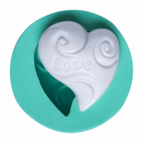 Kurdelya Love Yamuk Kalp Silikon Kalıp