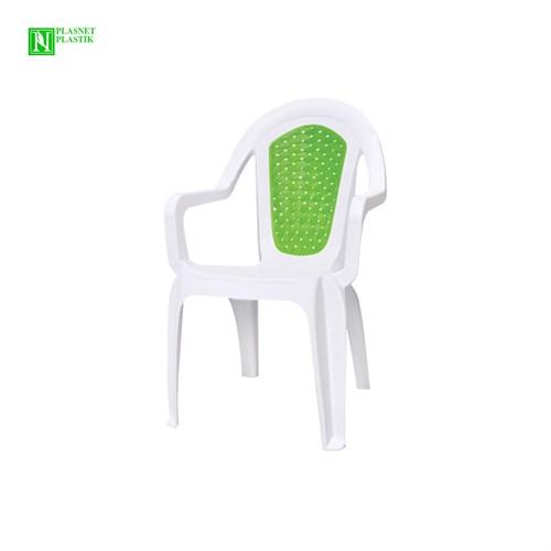 Bunjee Maksi Çift Renkli Plastik Sandalye Beyaz-Yeşil