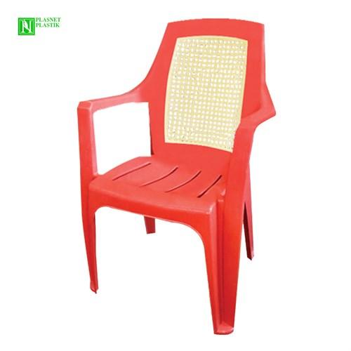 Bunjee Nirvana Çift Renkli Plastik Sandalye Kırmızı