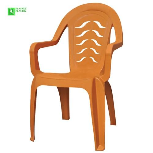 Bunjee Maksi Lüks Plastik Sandalye Kahve