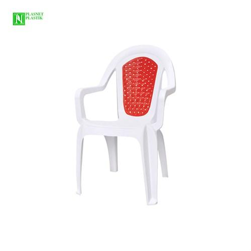 Bunjee Maksi Çift Renkli Plastik Sandalye Beyaz-Kırmızı