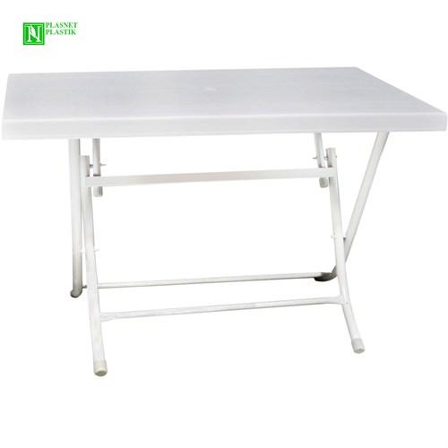 Bunjee Metal Ayaklı Masa Beyaz