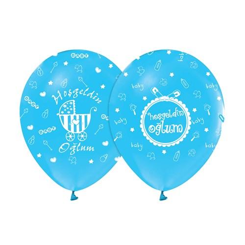 KullanAtMarket Hoşgeldin Oğlum Mavi Balon