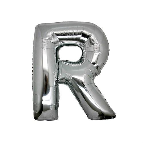 KullanAtMarket R Harf Gümüş Folyo Balon