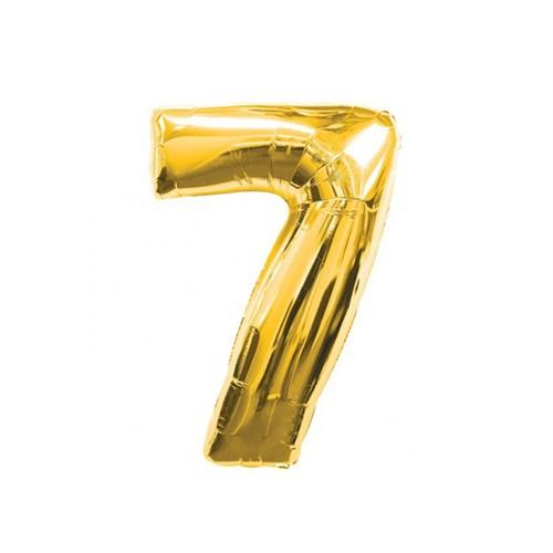 KullanAtMarket 7 Rakam Altın Folyo Balon