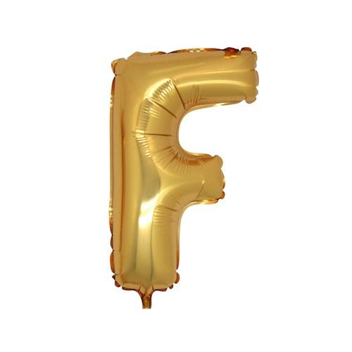 KullanAtMarket F Harf Altın Folyo Balon