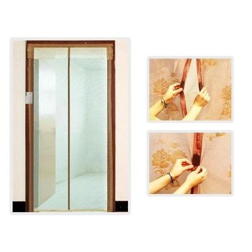 Buffer Mıknatıslı Kapı Sinekliği 90 Cm X 210 Cm Krem