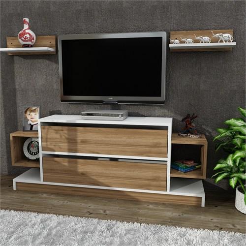 Dekorister Magic Tv Ünitesi Beyaz-Ceviz