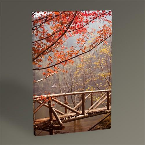 Tablo 360 Ormanda Ahşap Köprü Tablo 45X30