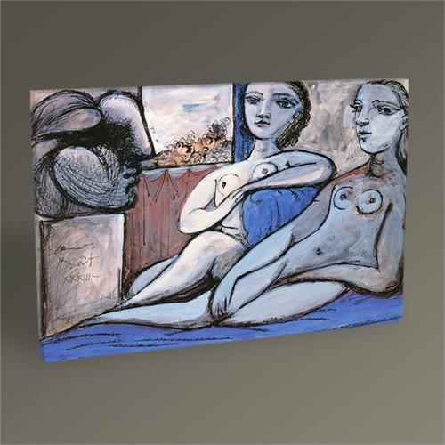 Tablo 360 Pablo Picasso Deux Femmes Nues Et Tete De Femme 45X30