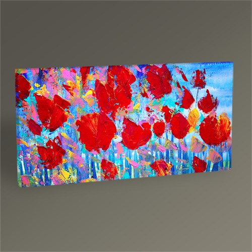 Tablo 360 Red Flowers Iı Tablo 60X30