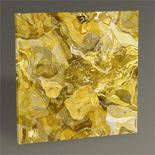 Tablo 360 Altın Soyut Tablo 30X30