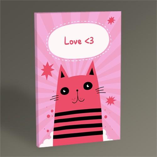 Tablo 360 Pink Cat Tablo 105X70