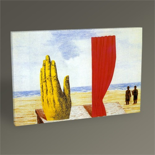 Tablo 360 Rene Magritte Collage 45X30