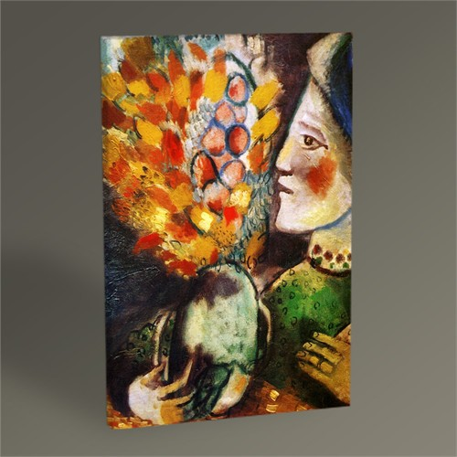 Tablo 360 Marc Chagall Woman With A Bouquet Tablo 45X30