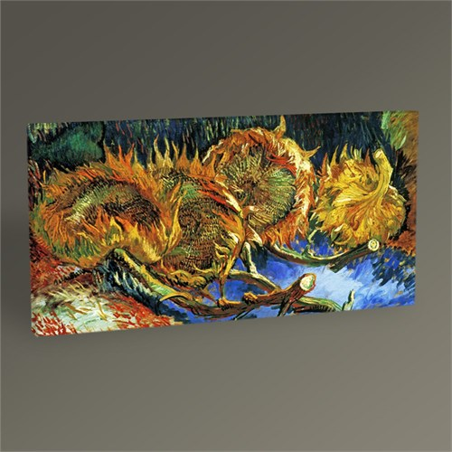 Tablo 360 Vincent Van Gogh Four Sunflowers Gone To Seed Tablo 60X30