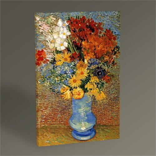 Tablo 360 Vincent Van Gogh Flowers İn A Blue Vase Tablo 45X30