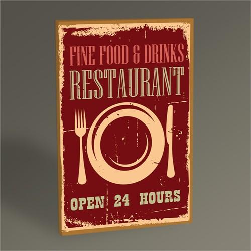 Tablo 360 Restaurant Afişi Tablo 45X30