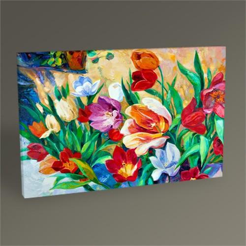 Tablo 360 Renkli Çiçekler Tablo 45X30