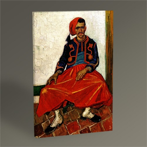 Tablo 360 Vincent Van Gogh-The Seated Zouave Tablo 45X30