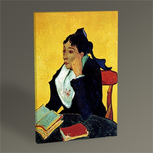 Tablo 360 Vincent Van Gogh-Madame Ginoux With Books 45X30