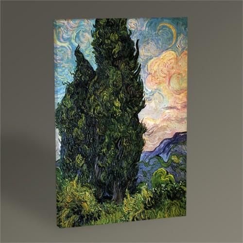Tablo 360 Vincent Van Gogh-Cypresses Tablo 45X30
